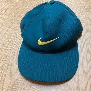 Vintage 1990s Nike Oregon Swoosh SnapBack Green